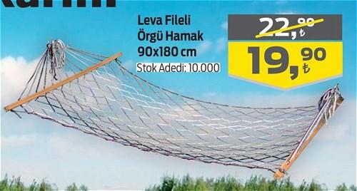 Leva Fileli Örgü Hamak 90x180 cm image