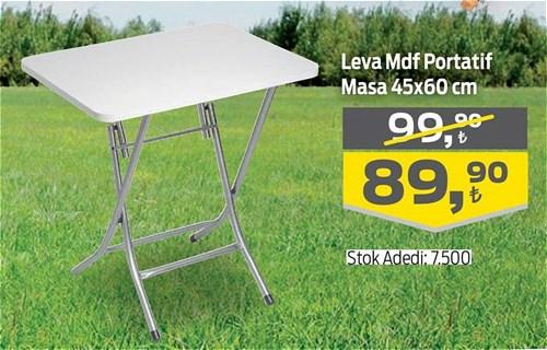 Leva Mdf Portatif Masa 45x60 cm image