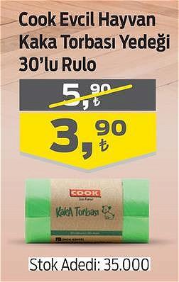Cook Evcil Hayvan Kaka Torbası Yedeği 30'lu Rulo image