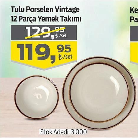 Tulu Porselen Vintage 12 Parça Yemek Takımı image