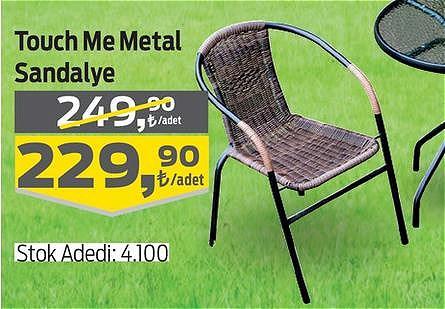 Touch Me Metal Sandalye image