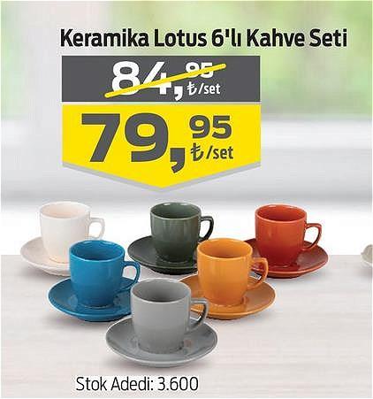 Keramika Lotus 6'lı Kahve Seti image