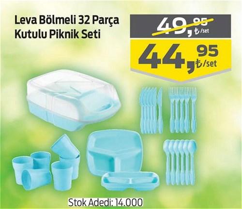 Leva Bölmeli 32 Parça Kutulu Piknik Seti image