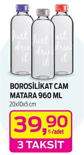 Borosilikat Cam Matara 960 ml image