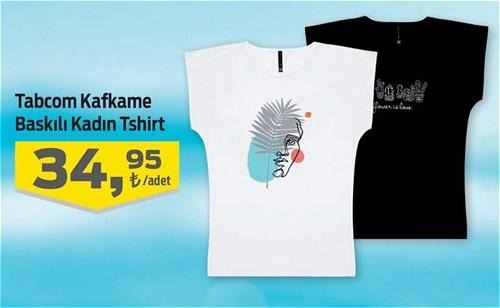 Tabcom Kafkame Baskılı Kadın Tişört image
