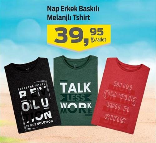 Nap Erkek Baskılı Melanjlı Tshirt image