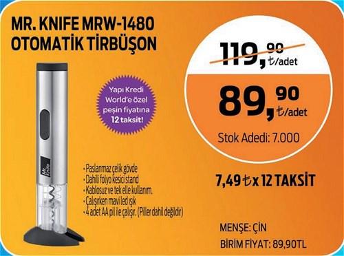 Mr.Knife MRW-1480 Otomatik Tirbüşon image