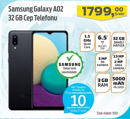 Samsung Galaxy A02 32 GB Cep Telefonu image