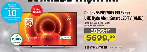 Philips 55PUS7805 139 Ekran UHD Uydu Alıcılı Smart Led TV image