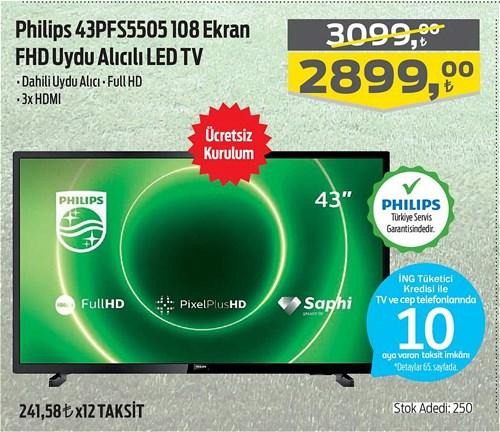 Philips 43PFS5505 108 Ekran FHD Uydu Alıcılı Led Tv image