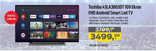 Toshiba 43LA3B63DT 109 Ekran FHD Android Smart Led Tv image