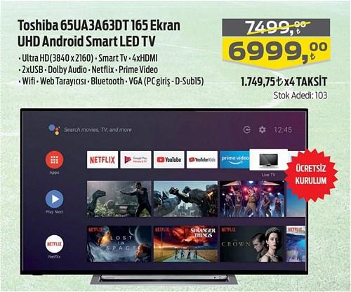 Toshiba 65UA3A63DT 165 Ekran Android UHD Smart Led Tv image