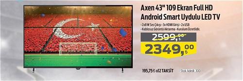 "Axen 43"" 109 Ekran Full HD Android Smart Uydulu Led Tv image"