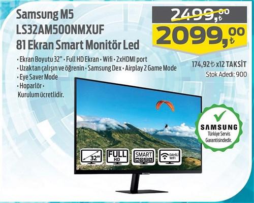 Samsung M5 LS32AM500NMXUF 81 Ekran Smart Monitör Led image