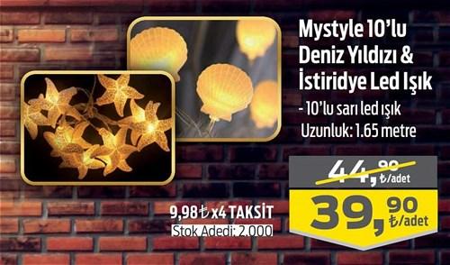Mystyle 10'lu Deniz Yıldızı&İstiridye Led Işık image