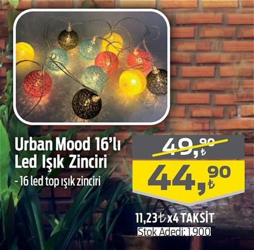 Urban Mood 16'lı Dekoratif Led Işık Zinciri image
