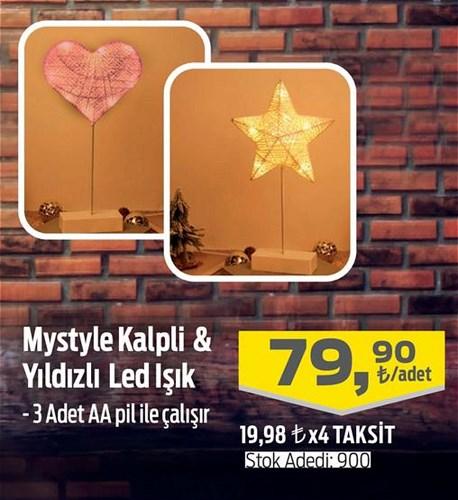 Mystyle Kalpli& Yıldızlı Dekoratif Led Işık image
