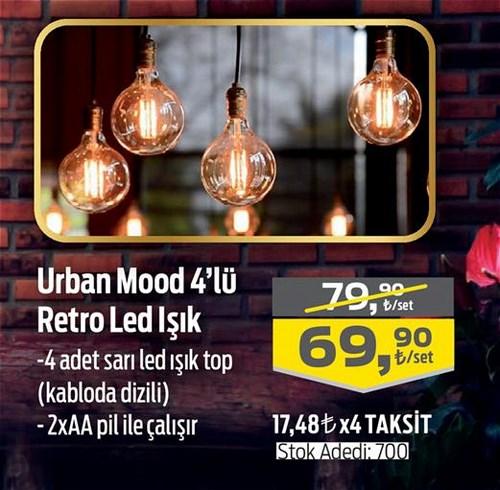 Urban Mood 4'lü Retro Led Işık image