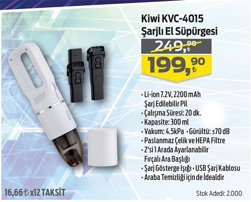 Kiwi KVC-4015 Şarjlı El Süpürgesi image