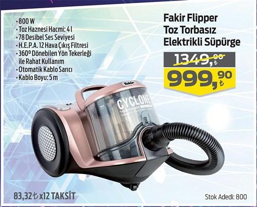 Fakir Flipper Toz Torbasız Elektrikli Süpürge 800 W image