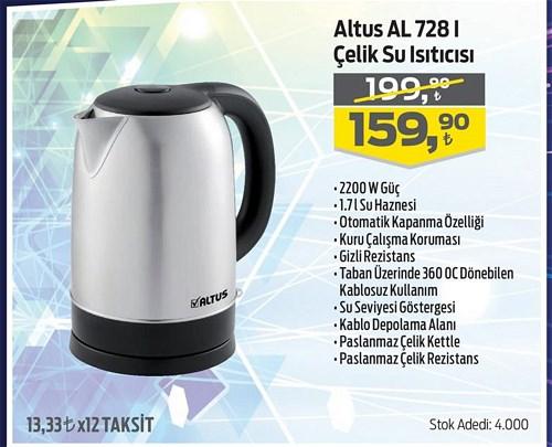 Altus AL 728 I Çelik Su Isıtıcısı 2200 W image