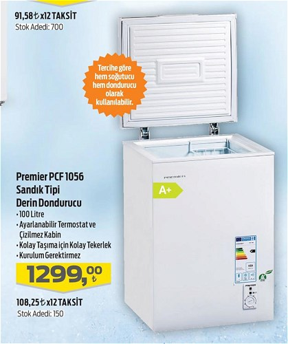 Premier PCF 1056 Sandık Tipi serin Dondurucu image