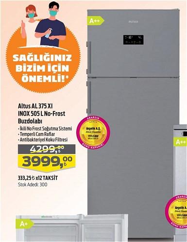 Altus AL 375 XI Inox 505 L No-Frost Buzdolabı image