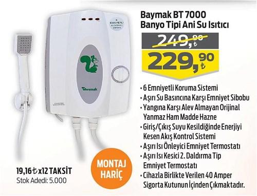 Baymak BT 7000 Banyo Tipi Ani Su Isıtıcı image