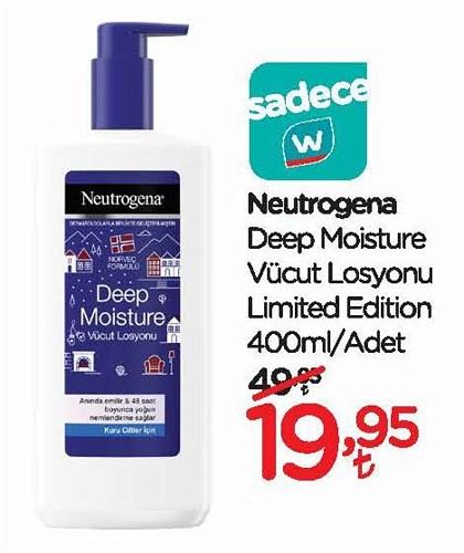 Neutrogena Deep Moisture Vücut Losyonu Limited Edition 400 ml image
