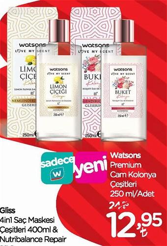 Watsons Premium Cam Kolonya Çeşitleri 250 ml image
