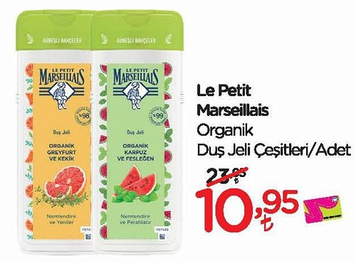 Le Petit Marseillais Organik Duş Jeli Çeşitleri/Adet image