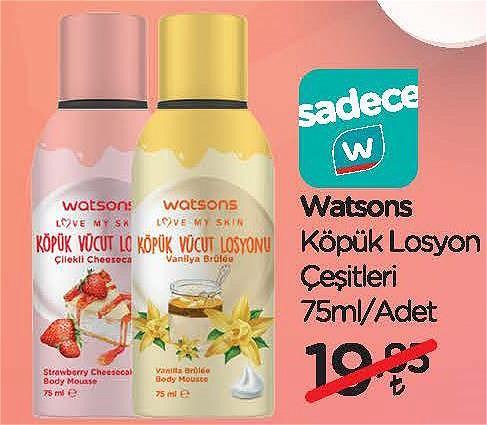 Watsons Köpük Losyon Çeşitleri 75 ml image