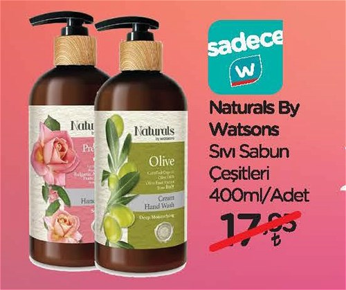 Naturals By Watsons Sıvı Sabun Çeşitleri 400 ml image