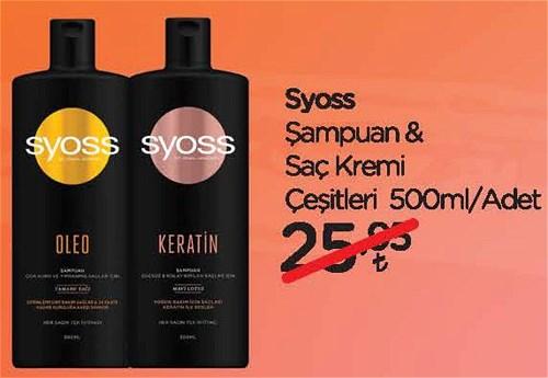 Syoss Şampuan&Saç Kremi Çeşitleri 500 ml image