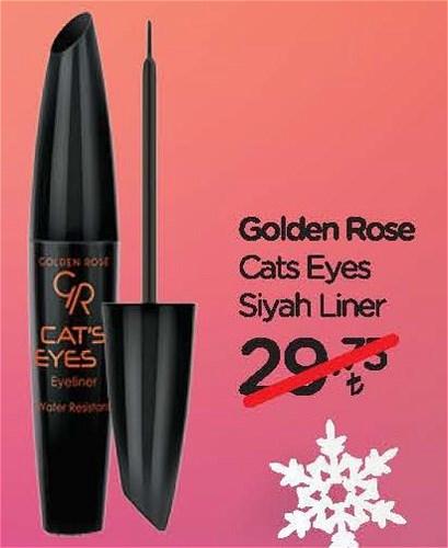 Golden Rose Cats Eyes Siyah Liner image