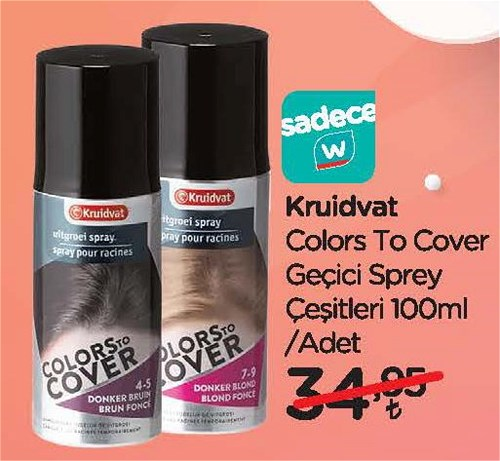 Kruidvat Colors To Cover Geçici Sprey Çeşitleri 100 ml image