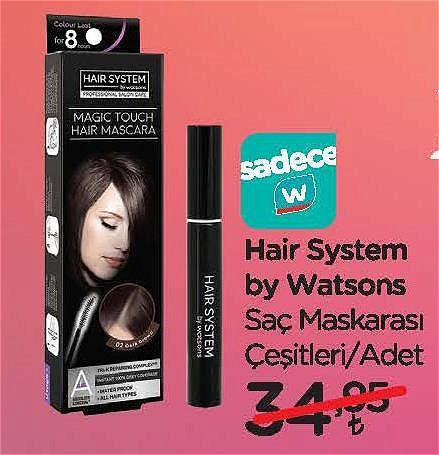 Hair System By Watsons Saç Maskarası Çeşitleri/Adet image