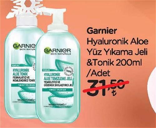 Garnier Hyaluronik Aloe Yüz Yıkama Jeli&Tonik 200 ml image