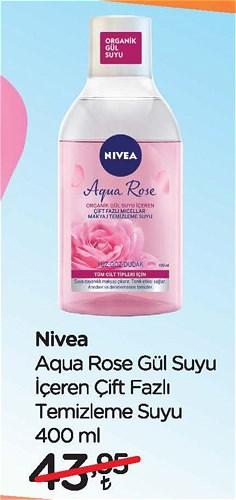 Nivea Aqua Rose Gül Suyu İçeren Çift Fazlı Temizleme Suyu 400 ml image