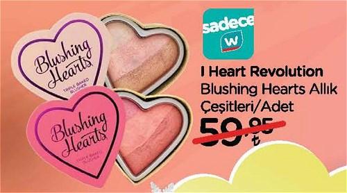 I Heart Revolution Blushing Heart Allık Çeşitleri/Adet image