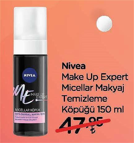 Nivea Make Up Expert Micellar Makyaj Temizleme Köpüğü 150 ml image