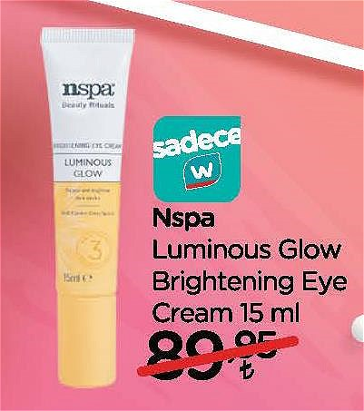 Nspa Luminous Glow Brightening Eye Cream 15 ml image
