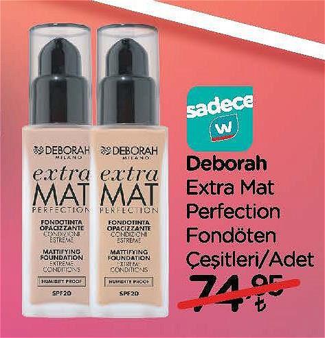 Deborah Extra Mat Perfection Fondöten Çeşitleri/Adet image