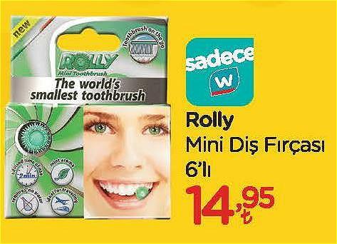Rolly Mini Diş Fırçası 6'lı image