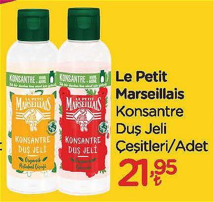 Le Petit Marseillais Konsantre Duş jeli Çeşitleri/Adet image