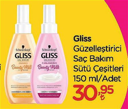 Gliss Güzelleştirici Saç Bakım Sütü Çeşitleri 150 ml image