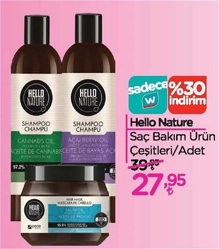 Hello Nature Saç Bakım Ürün Çeşitleri/Adet image