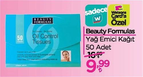 Beauty Formulas Yağ Emici Kağıt 50 Adet image