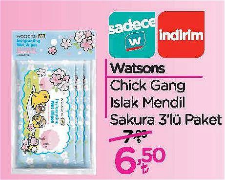 Watsons Chick Gang Islak Mendil Sakura 3'lü Paket image