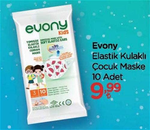 Evony Elastik Kulaklı Çocuk Maske 10 Adet image
